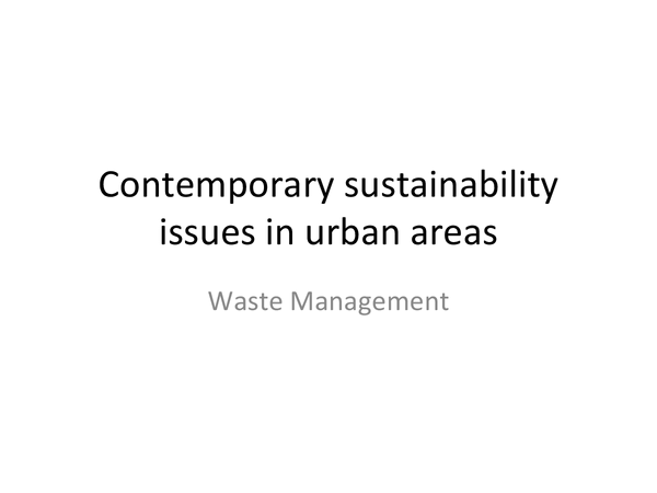 Preview of waste management