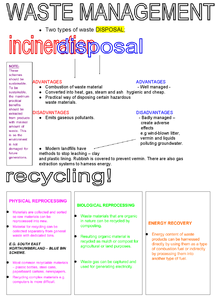 Preview of Waste Management - Revision Poster - World Cities