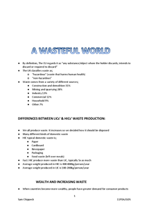Preview of Wasteful World