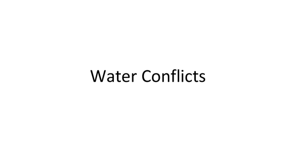 Preview of Water Conflicts