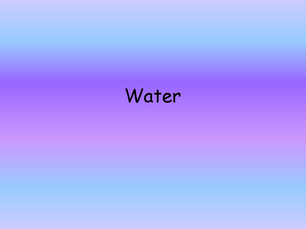 Preview of water