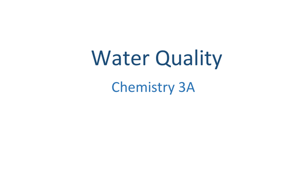 Preview of Water Quality