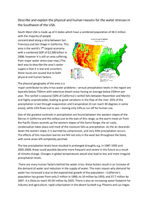 Preview of WATER SECURITY:South West USA case study