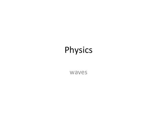 Preview of Waves