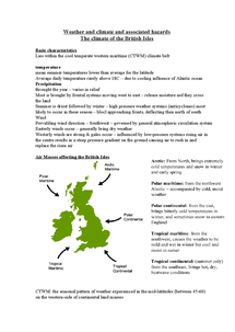 Preview of Weather and climate and associated hazards The climate of the British Isles