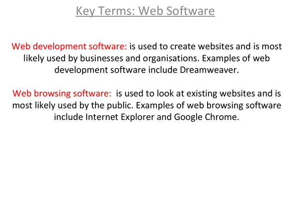 Preview of Web Software