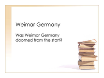 Preview of Weimar Germany revision