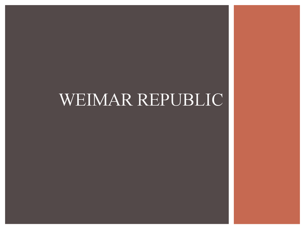 Preview of weimar replubic