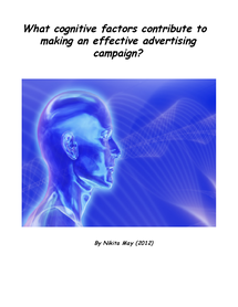 Preview of What cognitive factors contribute to making an effective advertising campain