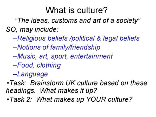 Preview of What is culture