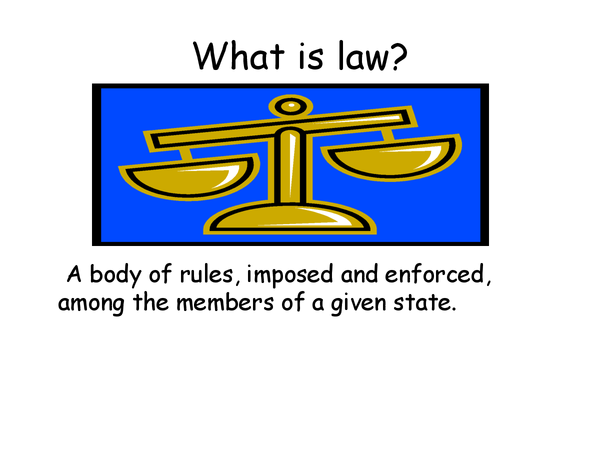 Preview of what is law