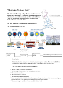 Preview of What is the National Grid (GCSE Physics)