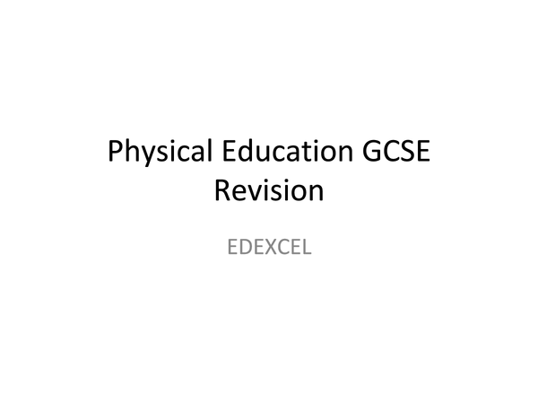 Preview of WHOLE P.E AQA REVISION NOTE