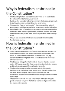 how and why is federalism enshrined A federal system of government is one that divides the powers of government the constitution of the united states established the federal system, also known as federalism under another important area of individual liberty enshrined in the us constitution is the freedom of speech.