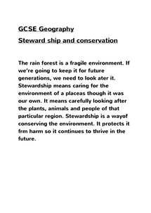 Preview of Why are stewardship and conservation important ?