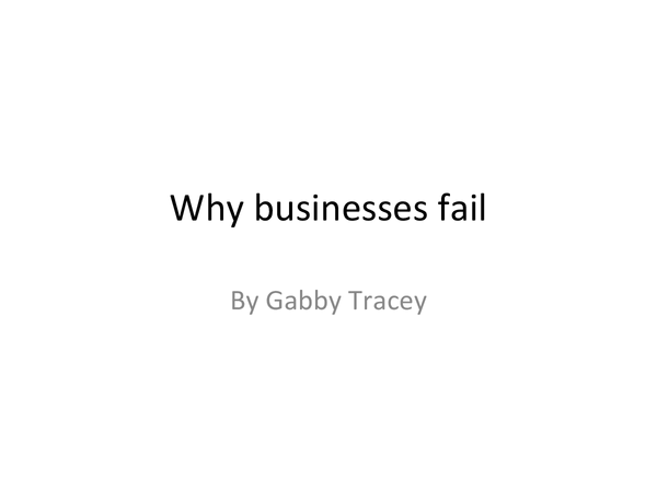 Preview of why businesses fail
