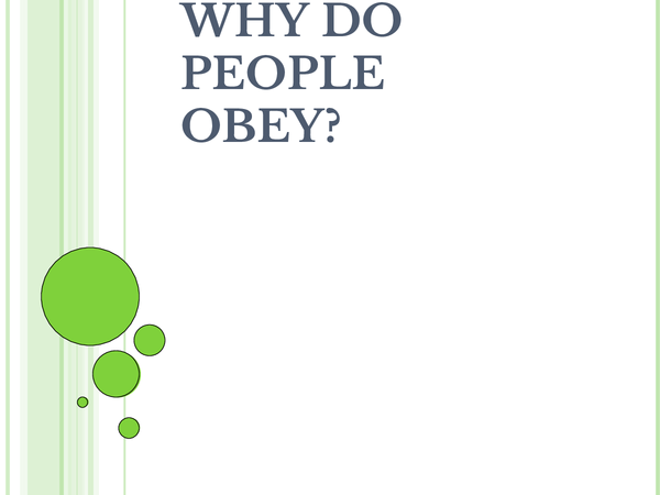 Preview of Why do people obey?