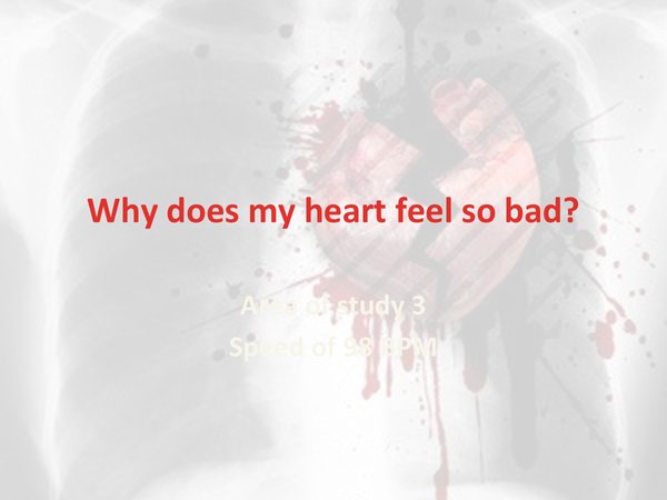 Preview of Why does my heart feel so bad - Moby