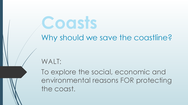 Preview of Why save the coast?