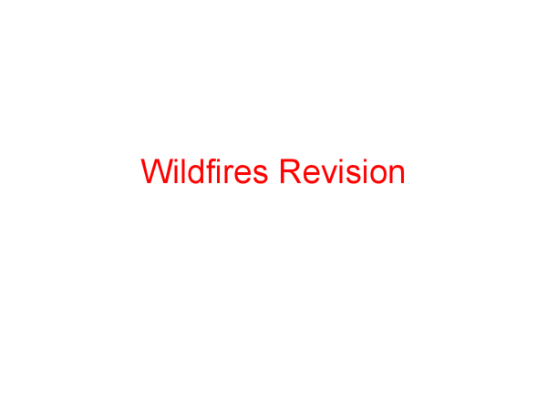 Preview of Wildfires Revision
