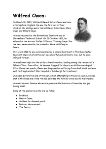 Preview of Wilfred Owen (info)