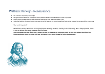 Preview of William Harvey- findings and importance