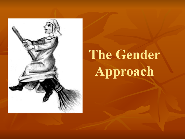 Preview of Witchcraft Gender approach