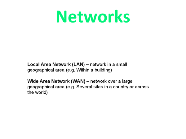 Preview of WJEC - A2 I.T. - Networks