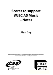 Preview of WJEC As Music Revision for Set Works