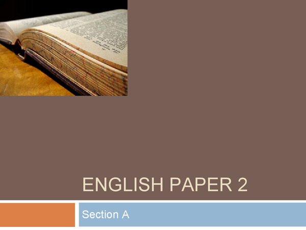 Preview of WJEC ENGLISH - PAPER 2