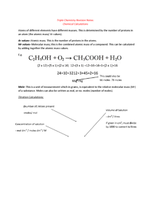 Preview of WJEC GCSE Chemistry 3 Chemical Calculations/ Titrations