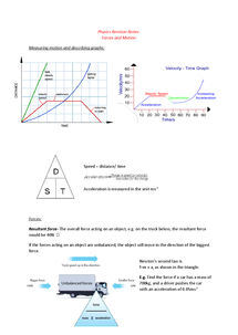 Preview of WJEC GCSE Physics 2 Forces and Motion