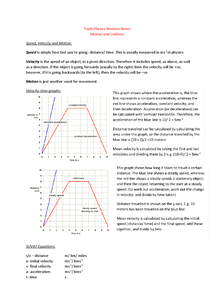 Preview of WJEC GCSE Physics 3 Motion and Collision