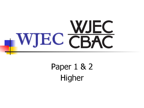 Preview of WJEC Paper 1 & 2 - About :)