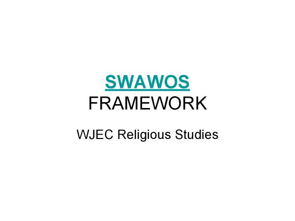 Preview of WJEC Religious Studies: SWAWOS framework