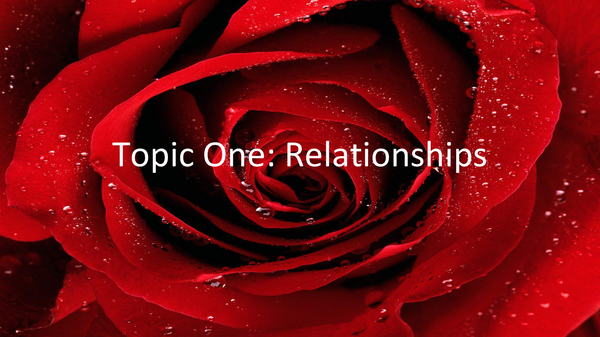 Preview of WJEC Topic 1: Relationships