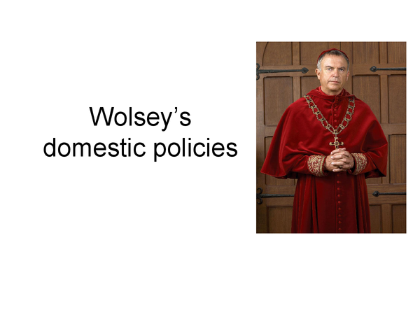 Preview of Wolsey's Domestic Policies