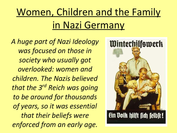 Preview of Women, Children and the Family in Nazi Germany