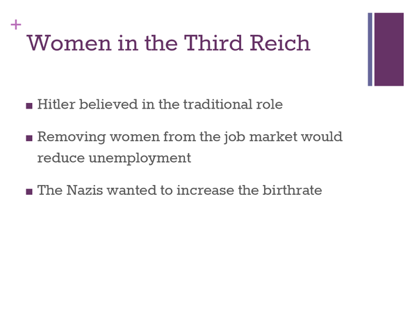 Preview of Women in the Third Reich