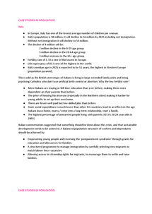 Preview of Word Document of Casestudies in population