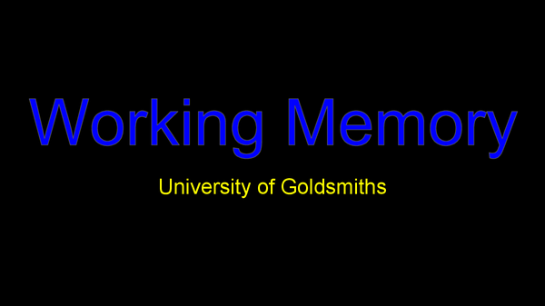 Preview of Working memory