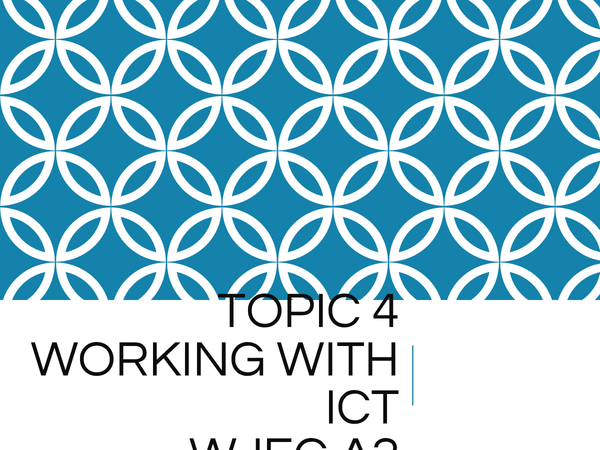 Preview of Working with ICT - WJEC - A2 ICT
