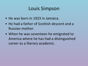 Working late louis simpson