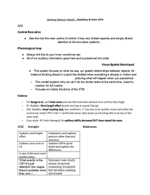 working memory model revision essay plan document in a level and  page 1