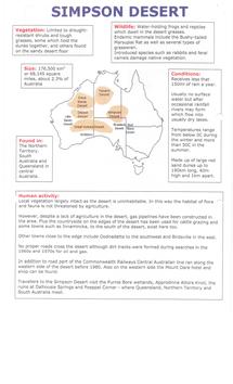 Preview of World Desert Factfiles