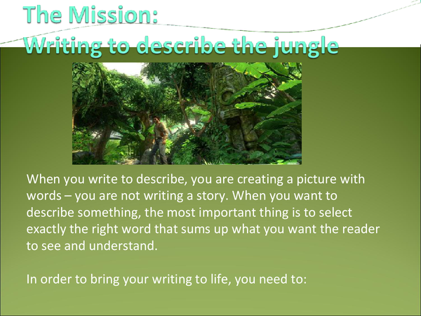 Preview of Writing to Describe The Jungle