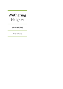 Preview of Wuthering Heights by Emily Bronte complete revision guide.