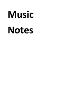Preview of Year 10 GCSE music notes
