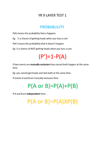 Preview of Year 9 FULL MATHS REVISION NOTES - also helpful for gcse made with the help of www.mathsrevision.net