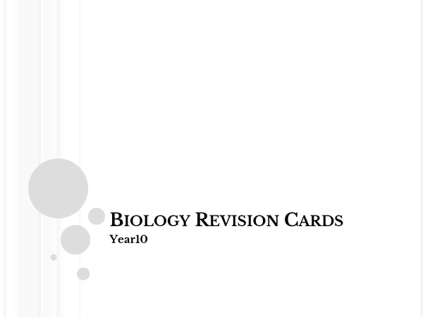 Preview of Yr10 GCSE Core Biology
